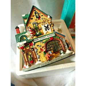 Christmas Village Barber Shop Santas Workbench